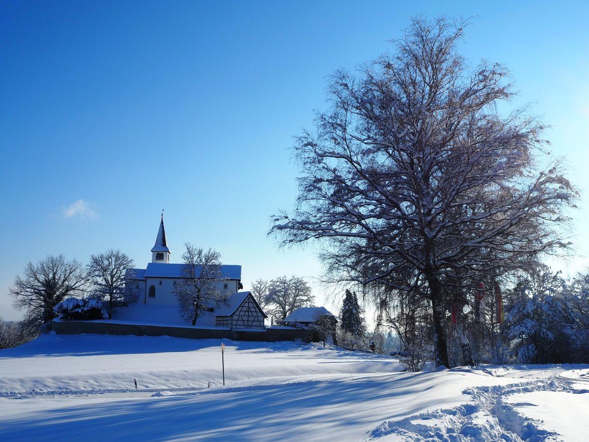 Die Bergkirche im Winter